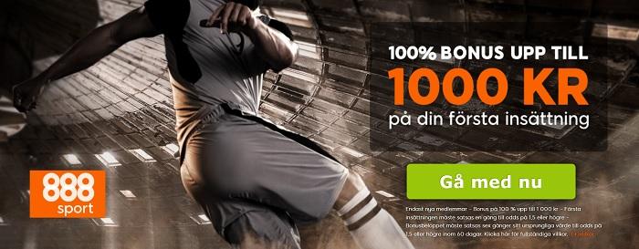 888sport med ny sportbonus 2017