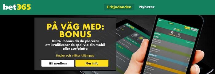 Bet365 sportbonus få totalt 1500 kr i bonus