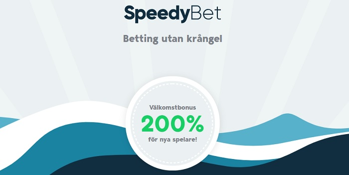 200% sportbonus upp till 2000 kr hos Speedybet