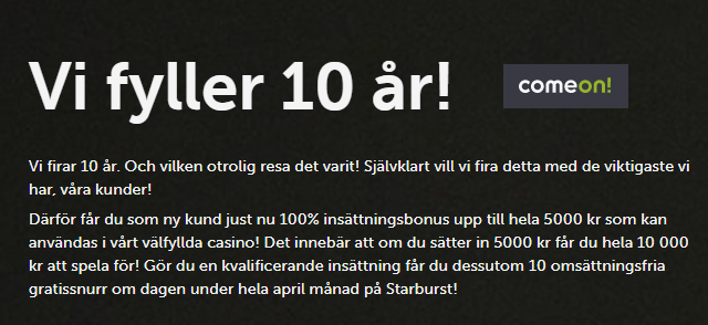 Nya casinobonusar i April 2020 i Sverige