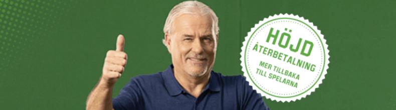 Unibet casino med 98% återbetalning