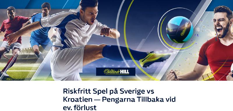 Kroatien - Sverige 11/10 odds, bonusar och erbjudanden