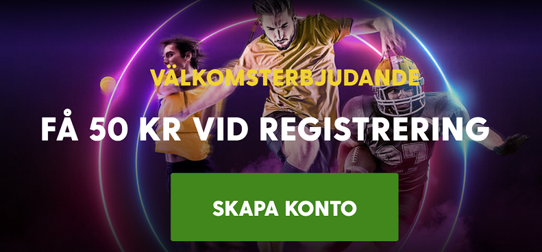 Betta med 50 kr gratis på Hockey VM 2021